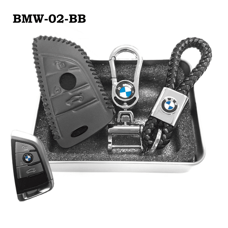 Genuine Leather Key Cover BMW-02-BB BMW Genuine Leather Key Cover