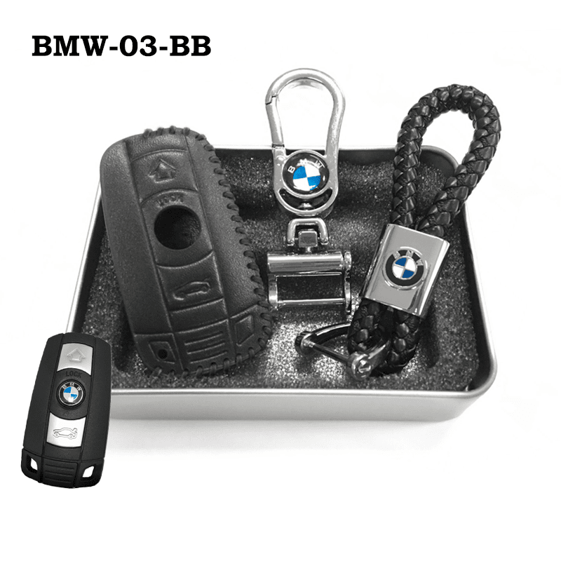 Genuine Leather Key Cover BMW-03-BB BMW Genuine Leather Key Cover