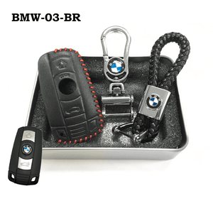 Genuine Leather Key Cover BMW-03-BR BMW Genuine Leather Key Cover