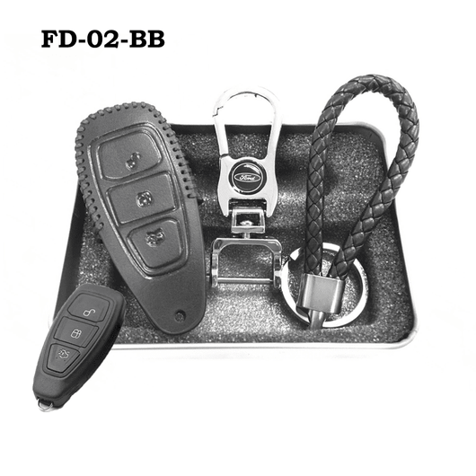Ford Smart Key Genuine Leather Key Cover Fit For Fiesta Focus F Series
