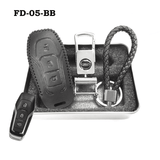 Genuine Leather Key Cover FD-05-BB Ford Smart Key Genuine Leather Key Cover Fit for Fiesta, Focus, F-Series