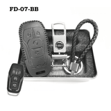 Genuine Leather Key Cover FD-07-BB Ford Smart Key Genuine Leather Key Cover Fit for Fiesta, Focus, F-Series