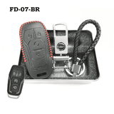 Genuine Leather Key Cover FD-07-BR Ford Smart Key Genuine Leather Key Cover Fit for Fiesta, Focus, F-Series