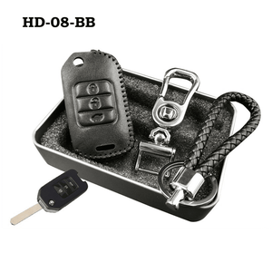 Genuine Leather Key Cover HD-08-BB Honda Flip Key Genuine Leather Key Cover Fit For Accord, Civic, XRV, Vezel, CRZ