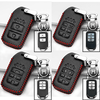Genuine Leather Key Cover HD-01-BB Honda Smart Key Genuine Leather Key Cover - Accord, City, Civic, CR-V, BR-V, HR-V, Jazz, Odyssey