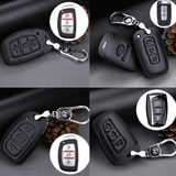 Genuine Leather Key Cover HYD-01-BB Hyundai Smart Key Genuine Leather Key Cover