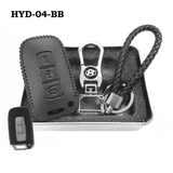 Genuine Leather Key Cover HYD-04-BB Hyundai Smart Key Genuine Leather Key Cover