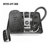 Genuine Leather Key Cover HYD-07-BB Hyundai Smart Key Genuine Leather Key Cover
