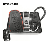 Genuine Leather Key Cover HYD-07-BR Hyundai Smart Key Genuine Leather Key Cover