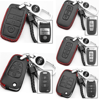 Genuine Leather Key Cover KIA-01-BB KIA Genuine Leather Key Cover Fit For K3 Cerato, K5 Optima, Sportage, Picanto