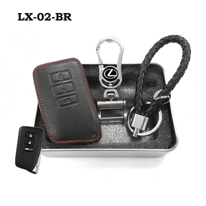 Genuine Leather Key Cover LX-02-BR Lexus Smart Key Genuine Leather Key Cover