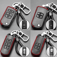 Genuine Leather Key Cover MD-01-BB Mazda Genuine Leather Key Cover