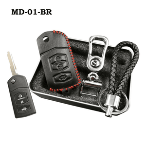 Genuine Leather Key Cover MD-01-BR Mazda Genuine Leather Key Cover