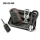 Genuine Leather Key Cover MD-02-BR Mazda Genuine Leather Key Cover