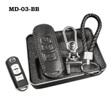 Genuine Leather Key Cover MD-03-BB Mazda Genuine Leather Key Cover