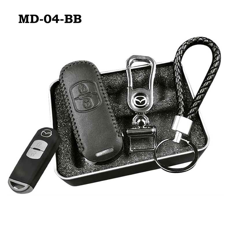 Genuine Leather Key Cover MD-04-BB Mazda Genuine Leather Key Cover