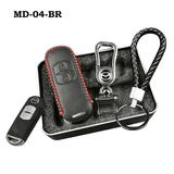 Genuine Leather Key Cover MD-04-BR Mazda Genuine Leather Key Cover