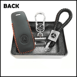 Genuine Leather Key Cover 01 BLACK Mercedes-Benz Smart Key Genuine Leather Key Cover