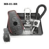 Genuine Leather Key Cover MB-01-BR Mercedes-Benz Smart Key Genuine Leather Key Cover