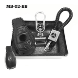 Genuine Leather Key Cover MB-02-BB Mercedes-Benz Smart Key Genuine Leather Key Cover