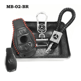 Genuine Leather Key Cover MB-02-BR Mercedes-Benz Smart Key Genuine Leather Key Cover