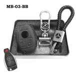 Genuine Leather Key Cover MB-03-BB Mercedes-Benz Smart Key Genuine Leather Key Cover
