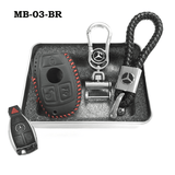 Genuine Leather Key Cover MB-03-BR Mercedes-Benz Smart Key Genuine Leather Key Cover