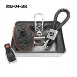 Genuine Leather Key Cover MB-04-BR Mercedes-Benz Smart Key Genuine Leather Key Cover