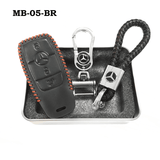 Genuine Leather Key Cover MB-05-BR Mercedes-Benz Smart Key Genuine Leather Key Cover