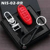 Genuine Leather Key Cover 02 RED Nissan Smart Key Genuine Leather Key Cover