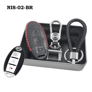 Genuine Leather Key Cover NIS-02-BR Nissan Smart Key Genuine Leather Key Cover