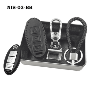 Genuine Leather Key Cover NIS-03-BB Nissan Smart Key Genuine Leather Key Cover
