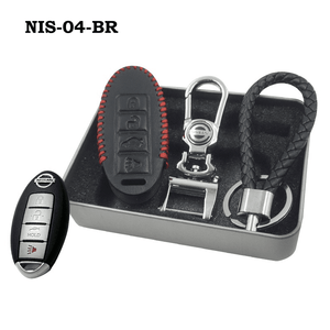 Genuine Leather Key Cover NIS-04-BR Nissan Smart Key Genuine Leather Key Cover