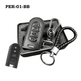 Genuine Leather Key Cover PER-01-BB Perodua Smart Key Genuine Leather Key Cover Fit for Bezza, Myvi 2018 & Axia