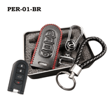 Genuine Leather Key Cover PER-01-BR Perodua Smart Key Genuine Leather Key Cover Fit for Bezza, Myvi 2018 & Axia