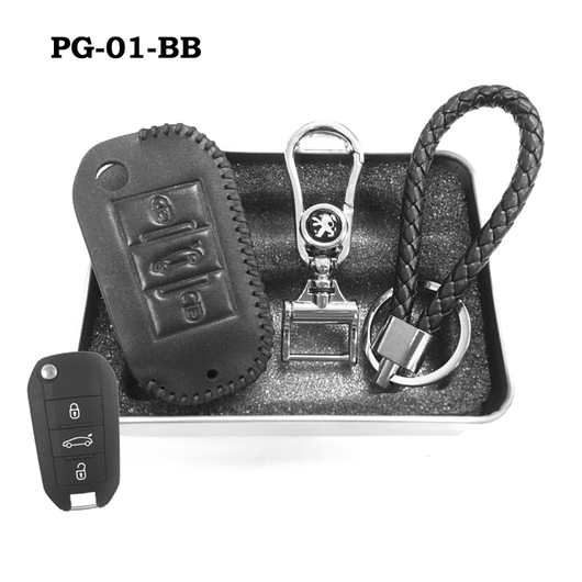 Genuine Leather Key Cover PG-01-BB Peugeot Key Genuine Leather Key Cover