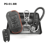 Genuine Leather Key Cover PG-01-BR Peugeot Key Genuine Leather Key Cover