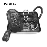 Genuine Leather Key Cover PG-02-BB Peugeot Key Genuine Leather Key Cover