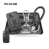 Genuine Leather Key Cover PG-03-BB Peugeot Key Genuine Leather Key Cover