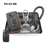 Genuine Leather Key Cover PG-03-BR Peugeot Key Genuine Leather Key Cover