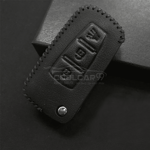 Genuine Leather Key Cover Black Lining Proton Flip Key Genuine Leather Key Cover Fit for Exora