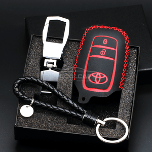 Genuine Leather Key Cover RED Toyota Genuine Leather Car Key Cover
