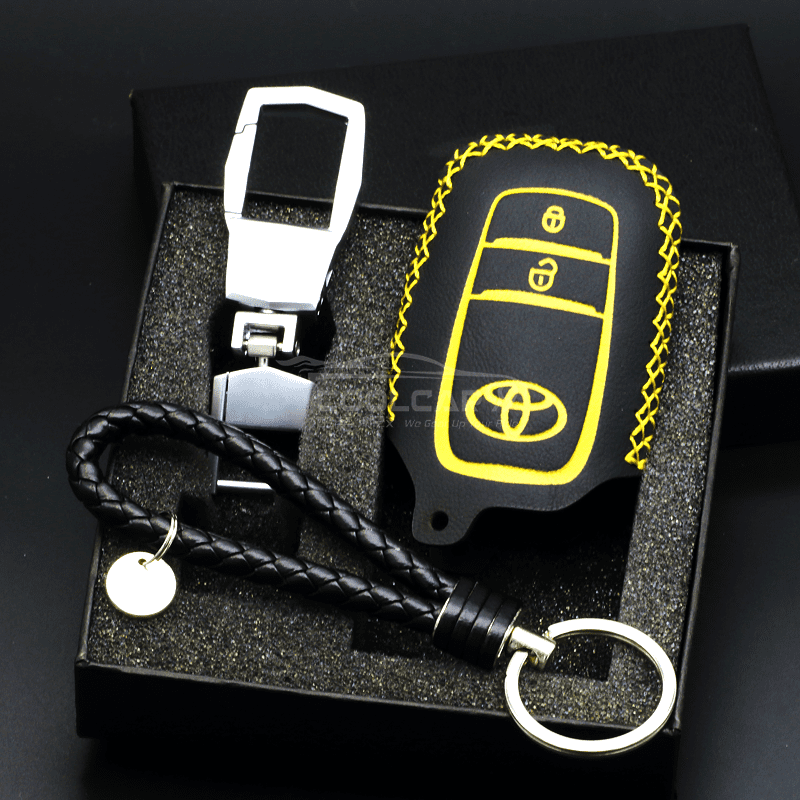 Genuine Leather Key Cover YELLOW Toyota Genuine Leather Car Key Cover