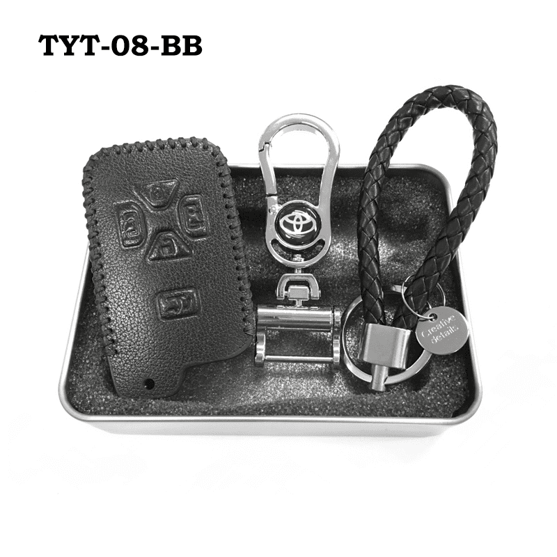 Genuine Leather Key Cover TYT-08-BB Toyota Smart Key Genuine Leather Key Cover Fit for Estima / Alphard / Vellfire