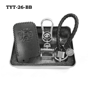 Genuine Leather Key Cover TYT-26-BB Toyota Smart Key Genuine Leather Key Cover Fit for Estima / Alphard / Vellfire