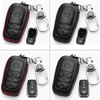Genuine Leather Key Cover TYT-01-BR Toyota Smart Key Genuine Leather Key Cover Fit for Hilux Revo / New Innova Camry / Camry Hybrid / Fortuner / Vellfire