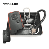 Genuine Leather Key Cover TYT-04-BR Toyota Smart Key Genuine Leather Key Cover Fit for Prius