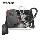 Genuine Leather Key Cover TYT-05-BR Toyota Smart Key Genuine Leather Key Cover Fit for Prius