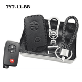 Genuine Leather Key Cover TYT-11-BB Toyota Smart Key Genuine Leather Key Cover Fit for Prius