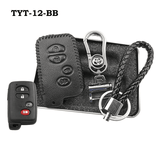 Genuine Leather Key Cover TYT-12-BB Toyota Smart Key Genuine Leather Key Cover Fit for Prius